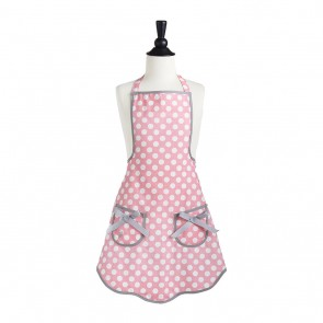 Rosy Pink Polka Dot Child Ava Apron-Pink Apron-Christmas Gift for Mothers