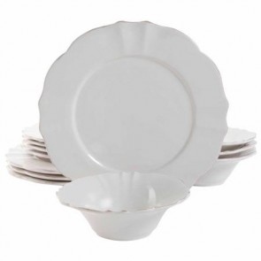 Shabby Chic 12 Pc Dinnerware Set | Elegant Dinner Set for 4 | Casual Dinnerware Set | Los Angeles, CA
