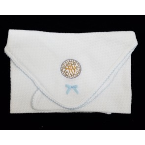 Shema Shema Baby Boy Brit Milah Heirloom Knit Blanket
