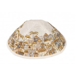Emanuel Embroidered Kippah Jerusalem with Gold