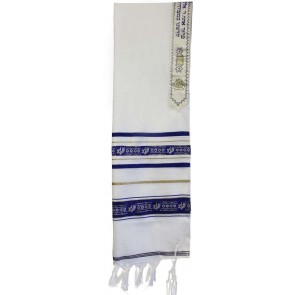 Star of David Wool Tallit, with Gold