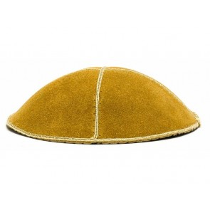 Suede Kippah With Rim, Yellow