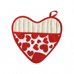 Jessie Steele Red & White Sweethearts Pot Mitt | Hostess Aprons & Pot Mitts | Los Angeles