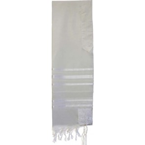 Tallit Traditional Style, Wool, White