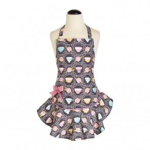 Jessie Steele Teacups Child's Josephine Apron 211-JS-270| Mommy & Me Aprons| Cute Children's Aprons Los Angeles, CA