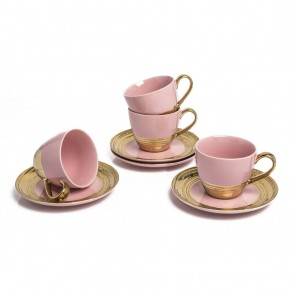 Embossed Gold Tea Set for 4