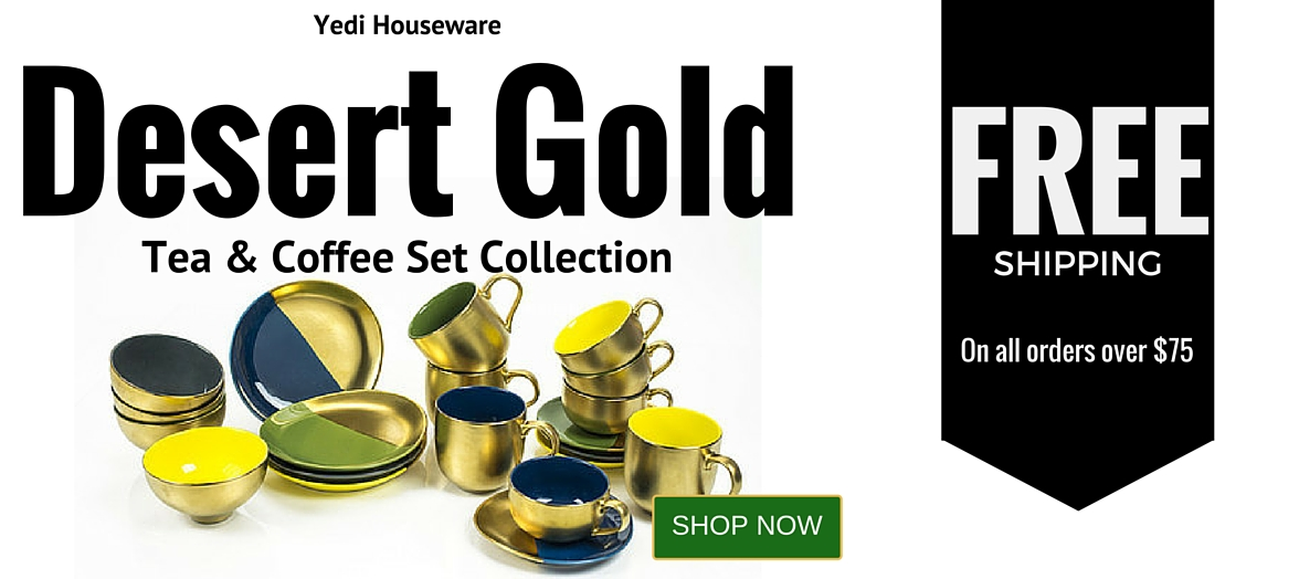 Shop Gold Coffee Mugs | Dessert Gold Collection by Yedi Houseware